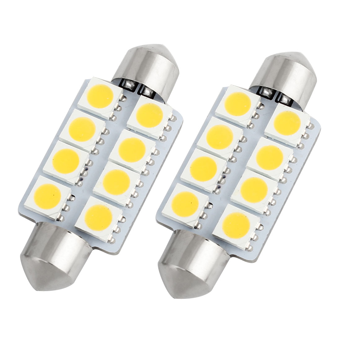 2pcs 41mm 5050 SMD 8-LED Festoon Dome Light Warm White 6413 211-2 212-2 560 Internal