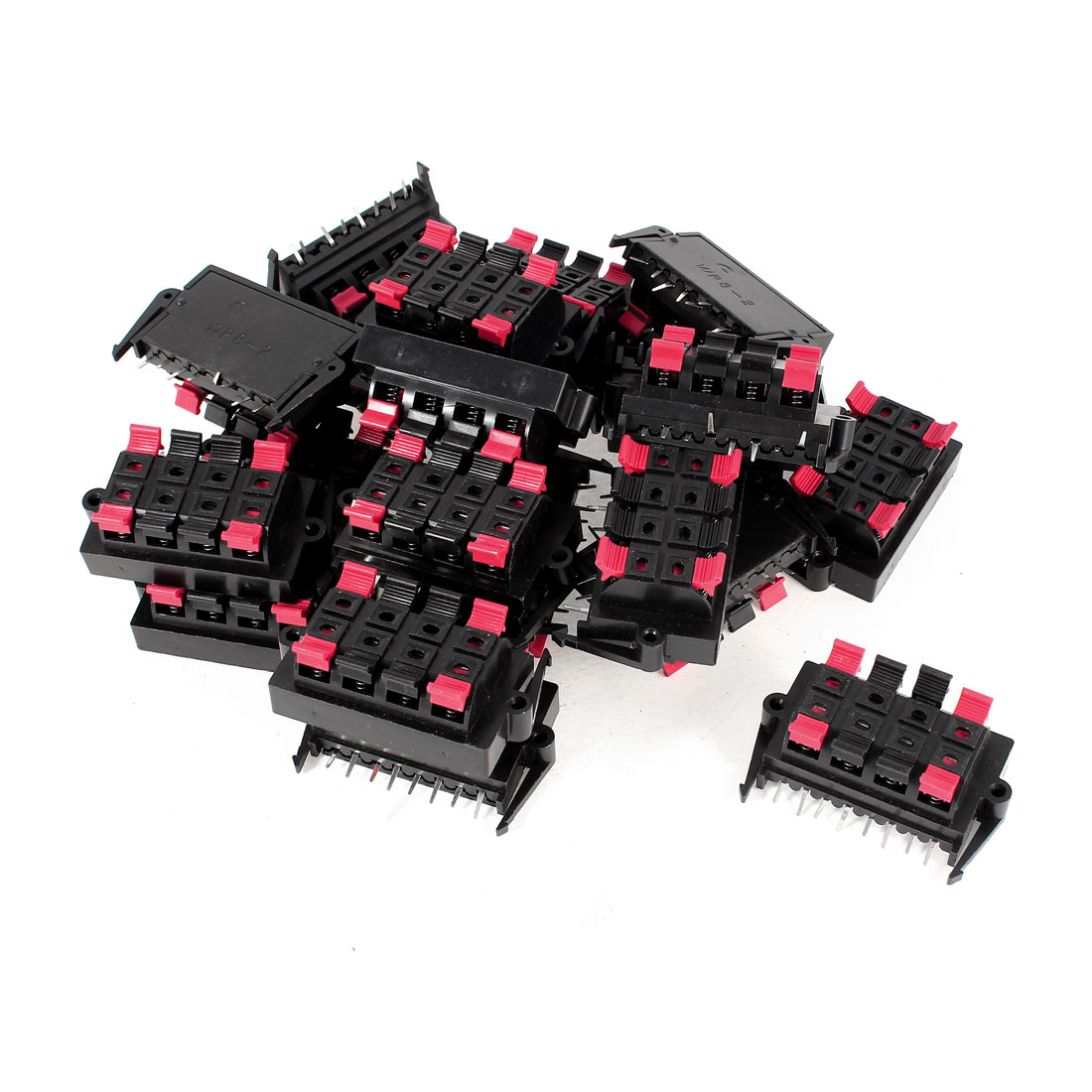 20 Pcs Double Row 8 Pin Push Type Jack Speaker Terminals Board Connector 55x32mm