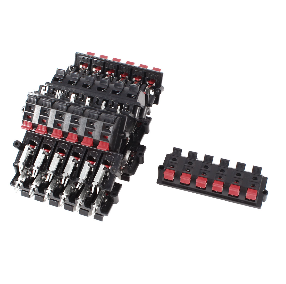 Plastic Casing 12 Pin 12 Position Speaker Terminal Board Red Black 10 Pcs