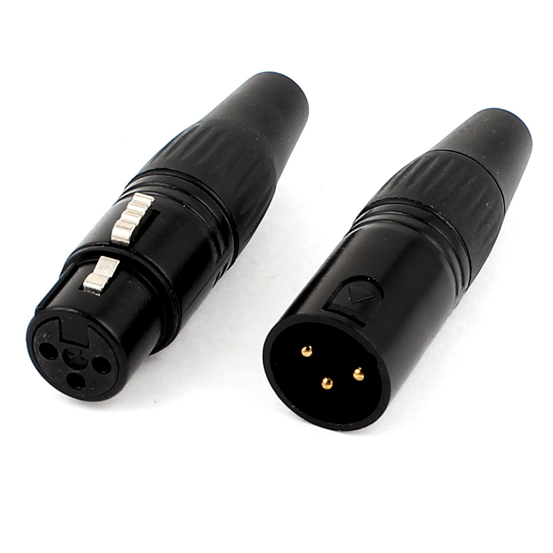 2 Pcs Audio Mic Microphone Adapter XLR 3 Pin Male Female Jack Connector