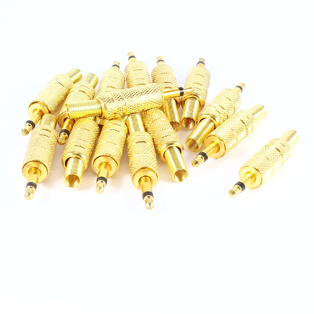 15pcs Audio Connector 3.5mm Stereo Male Jack DIY Solder Spring Adapter