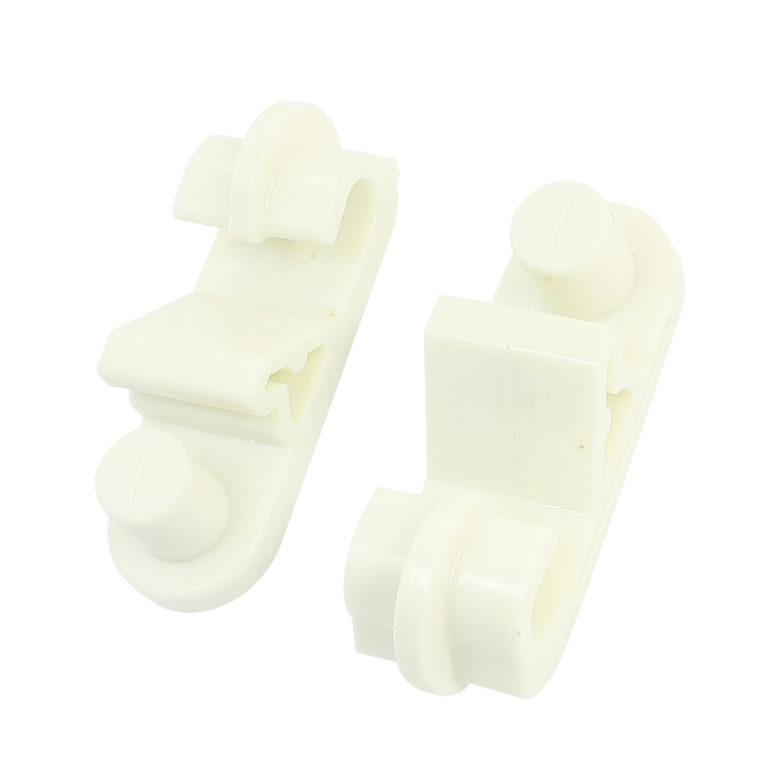 2Pcs Ivory White PVC Communication Cable Control J Hook Wire Support Glide Hanger 18mm 150Kg