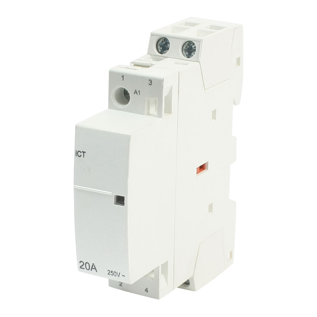 AC 230V Coil Voltage 35mm DIN Rail Mount 2-Pole Universal Purpose Household Contactor Family Modular 20Amp