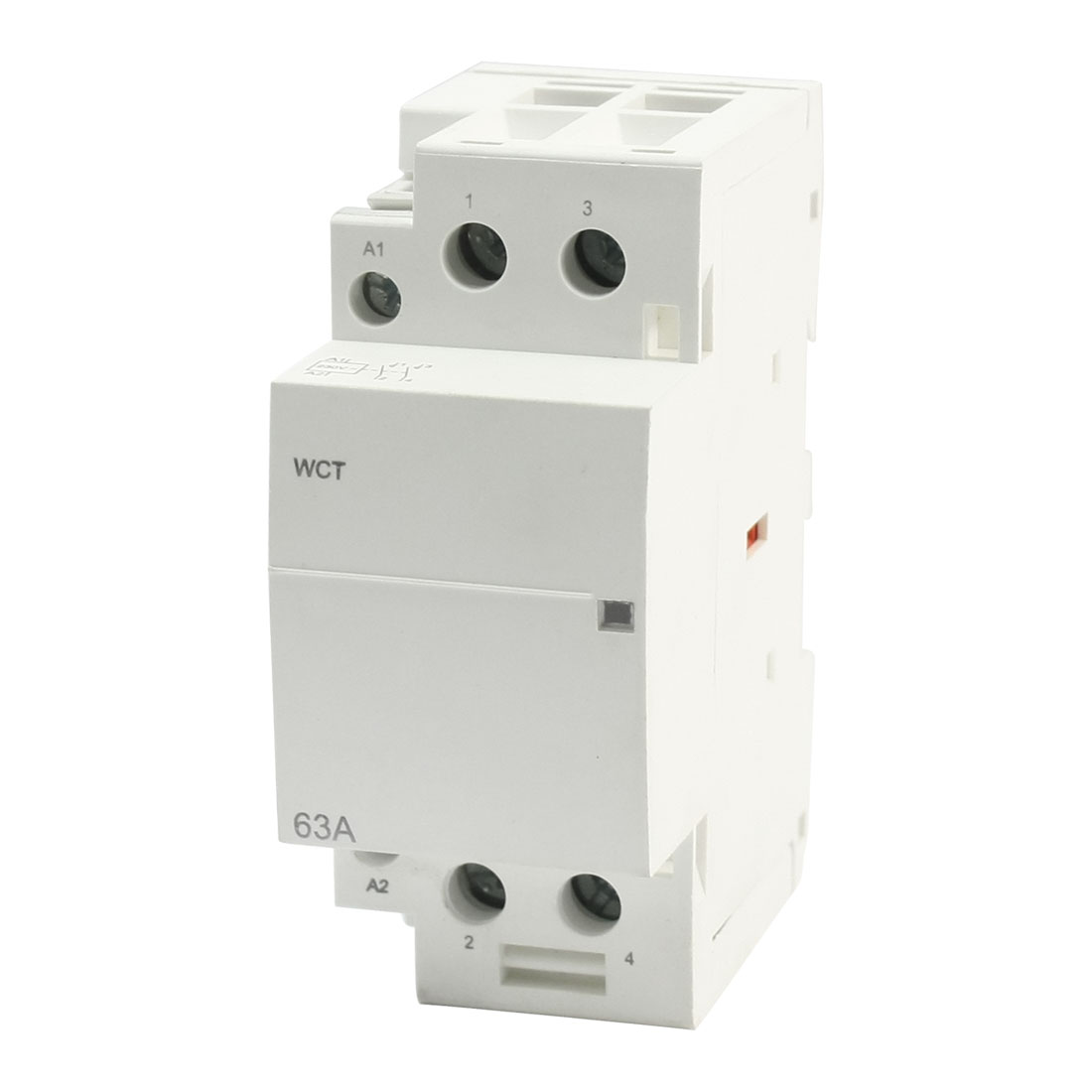 WCT-63A AC 220-240V Coil Voltage 35mm DIN Rail Mount 2-Pole Universal Purpose Household Modular Contactor 63Amp