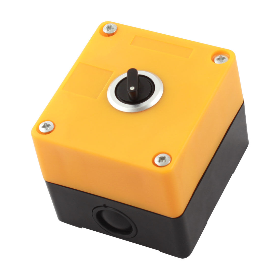 AC 220V AC250 5A Black Rotary Button 2 Position SPDT 1NO 1NC 3 Pins Soldering Self-Locking Plastic Rotary Switch Station Switch Control Box