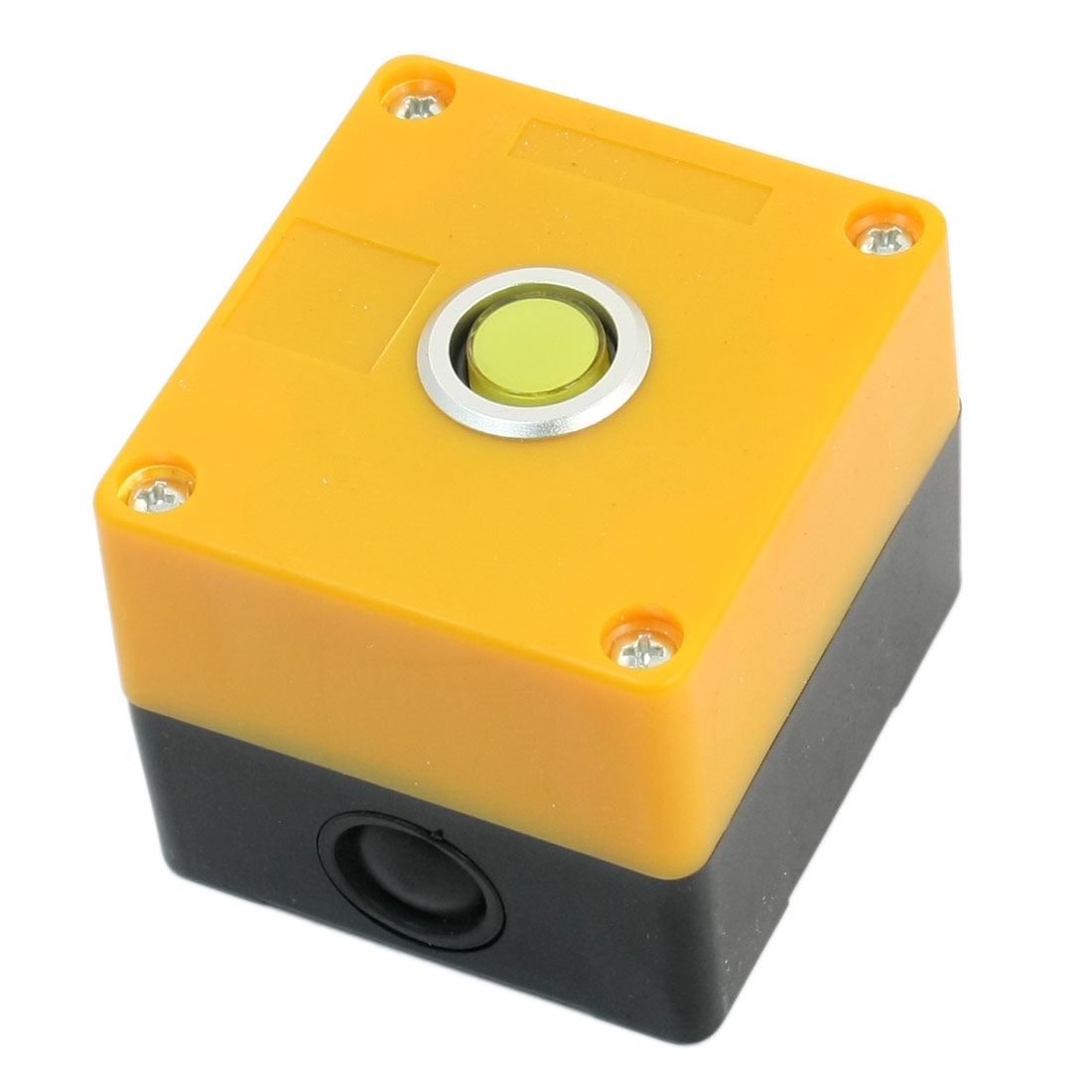 AC 220V 5A Yellow Light SPDT 1NO 1NC 5-Pin Momentary Action Round Button Pushbutton Station Switch Control Protector Guard