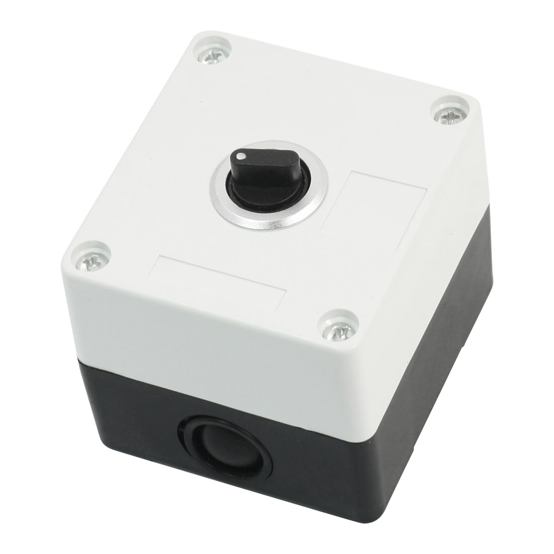 AC 220V 5A Rectangle White Plastic Shell DPDT 2NO 2NC 6-Pin 3-Position Rotary Selector Switch Control Station Box