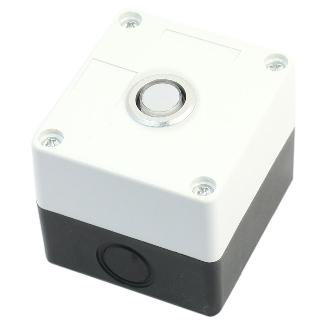 12V Warm White Light SPDT 1NO 1NC 5-Pin 1NO 1NC Momentary Reset Rectangle Plastic Push Button Station Box