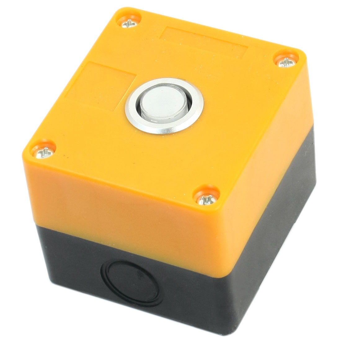 24V Warm White Light SPDT 1 NO 1 NC 5 Pin Soldering Momentary Type Pushbutton Control Station Box