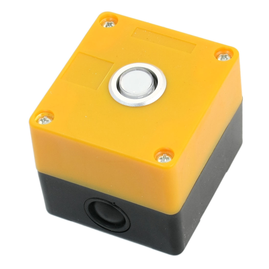 24V 15mm Dia Yellow Plastic Case Warm White Accident Signal Indicator Light Pilot Lamp Bulb Control Station Box