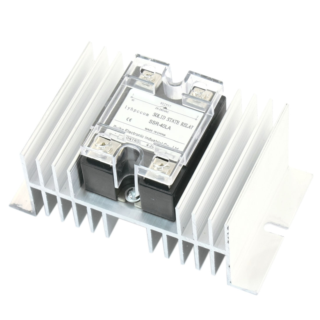 4-20mA to AC28-280V 40A Current Control 4 Screw Terminal Single Phase Silver Tone Aluminum Heat Sink SSR Solid State Relay