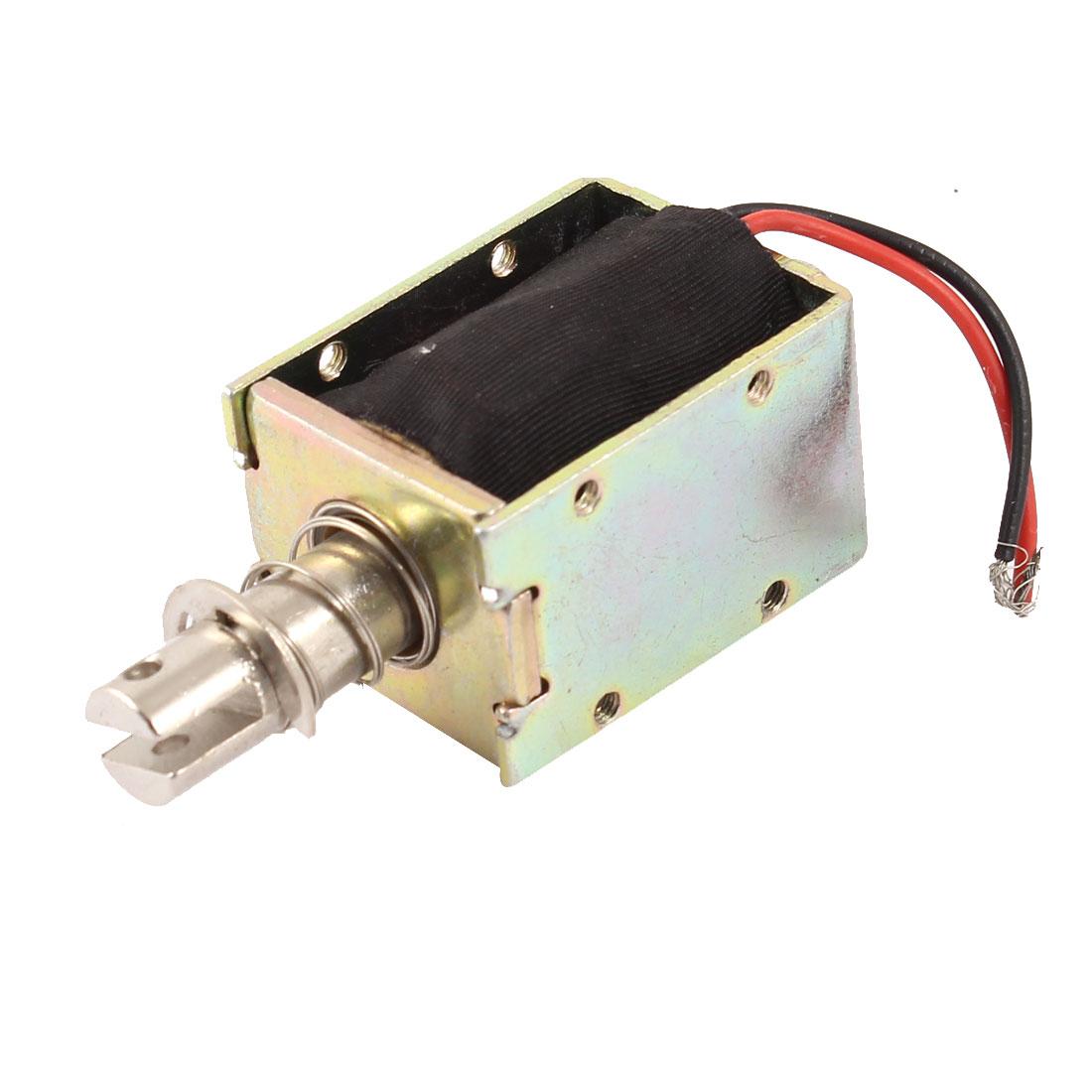 6mm Stroke 0.3Kg Holding Force 5.76W Pull Push Type Solenoid Electromagnet DC 12V