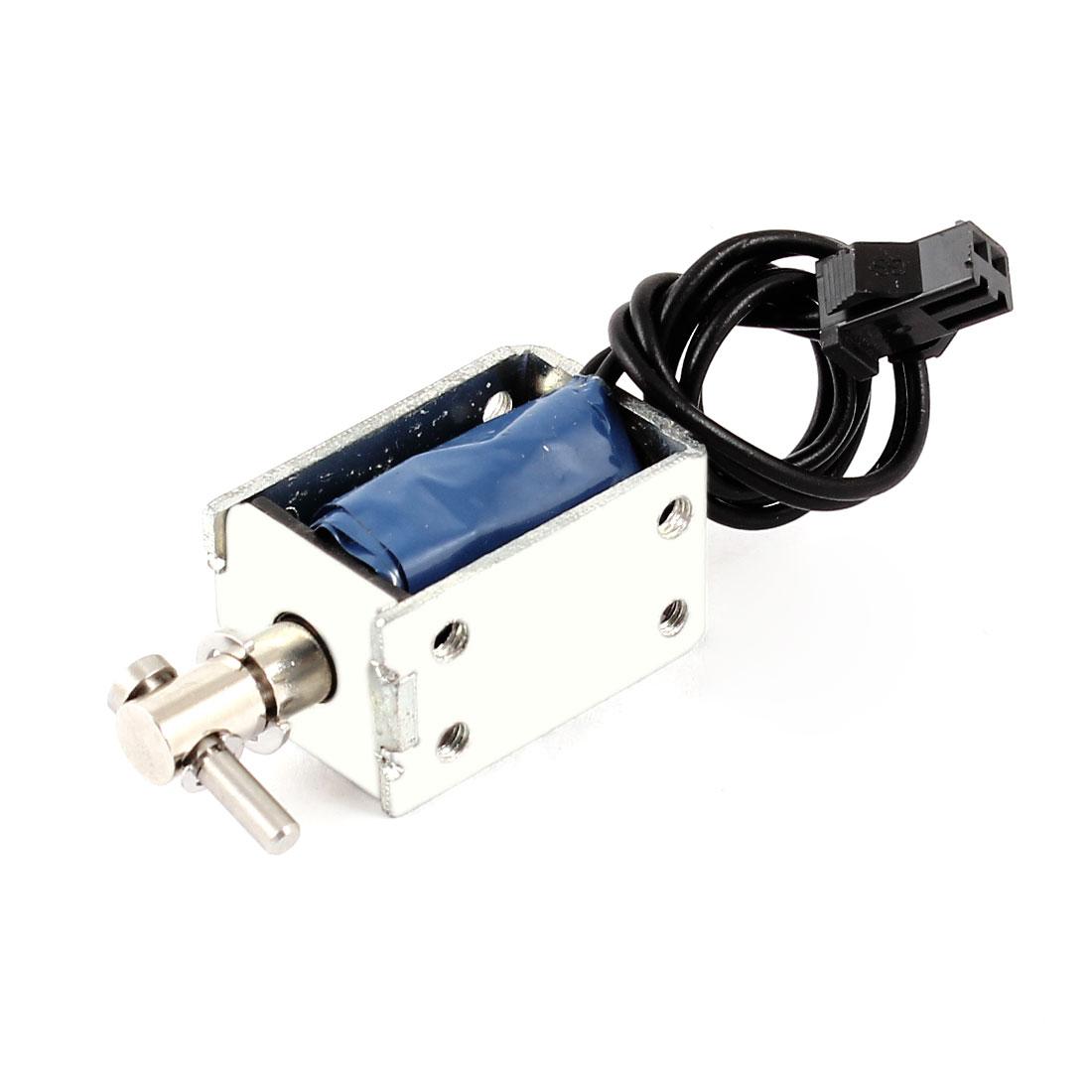 5mm Stroke 0.3Kg Holding Force Open Frame Solenoid Electromagnet DC 24V