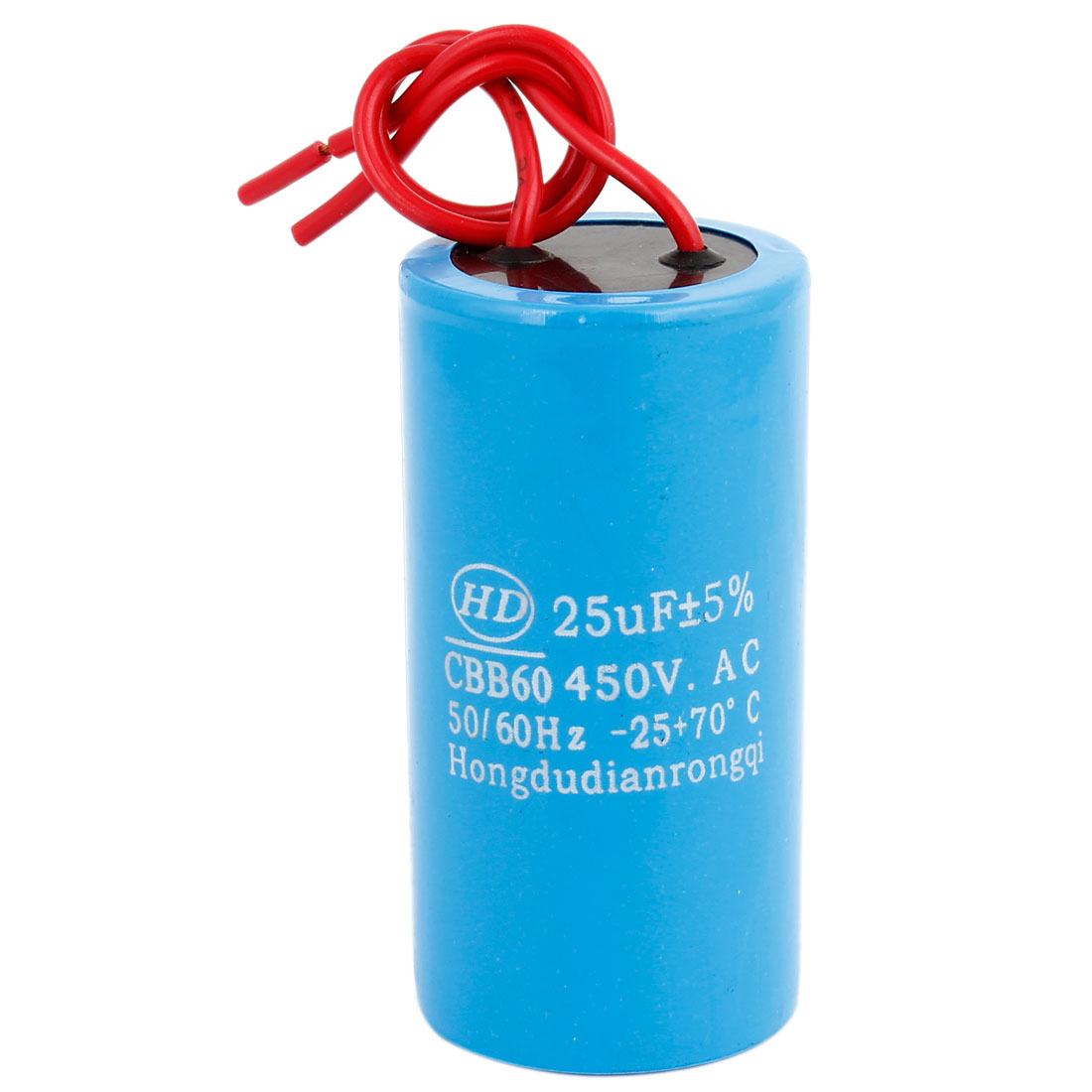 CBB60 25uF 5% Wired Capacitance Motor Star-up Capacitor AC450V 50/60Hz