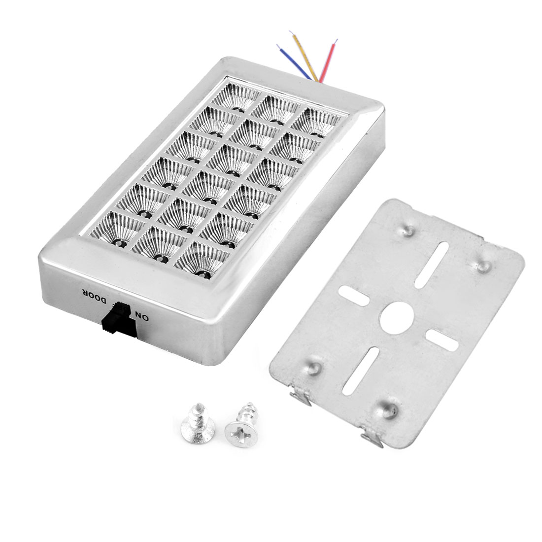 On Door Off Switch White 18 LEDs Indoor Roof Lamp Light 12V for Car Auto