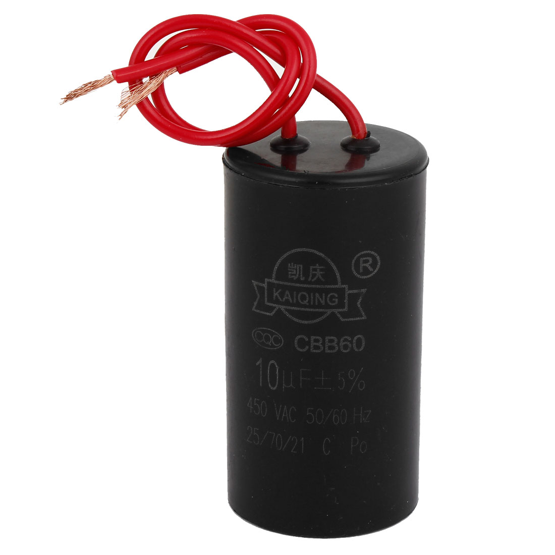 CBB60 10uF 5% Wired Capacitance Motor Star-up Capacitor AC450V 50/60Hz