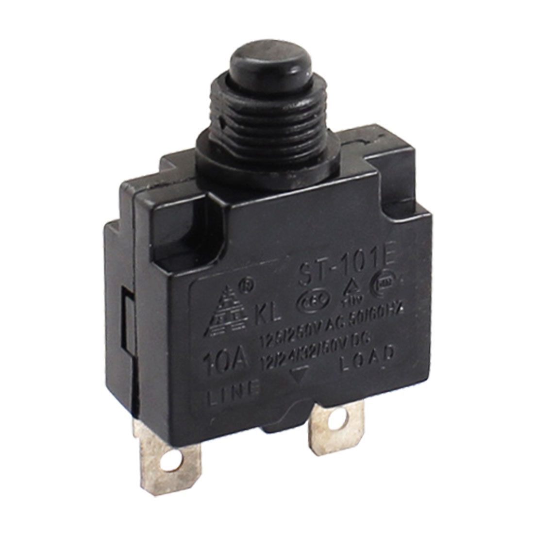 AC 125V/250V 50/60Hz 10A Terminal Toggle Switch Black Silver Tone