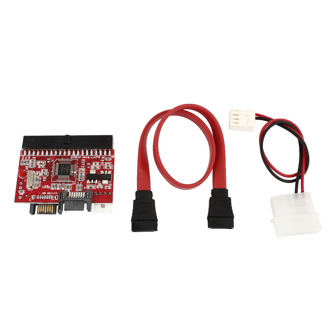 Bidirectional 2 Way IDE to SATA/SATA to IDE Adapter Red for Computer