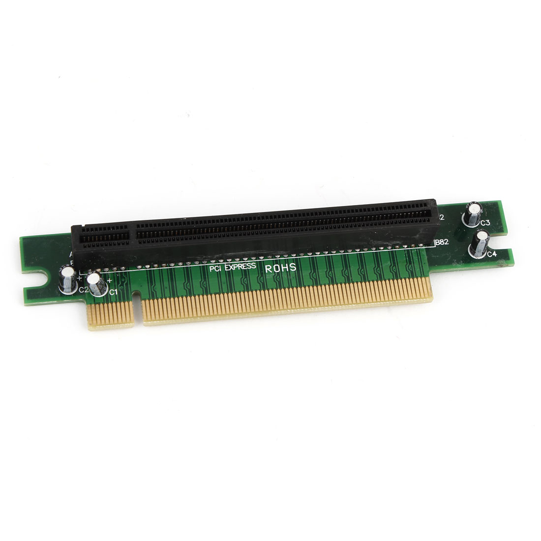 PCI Express PCI-e 16x Angle Riser Extender Card Adapter for PC Computer