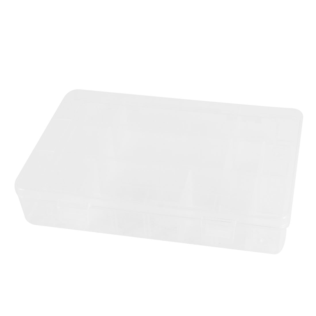Clear Rectangle Flexible Use Plastic Clip On Components Storage Box Holder