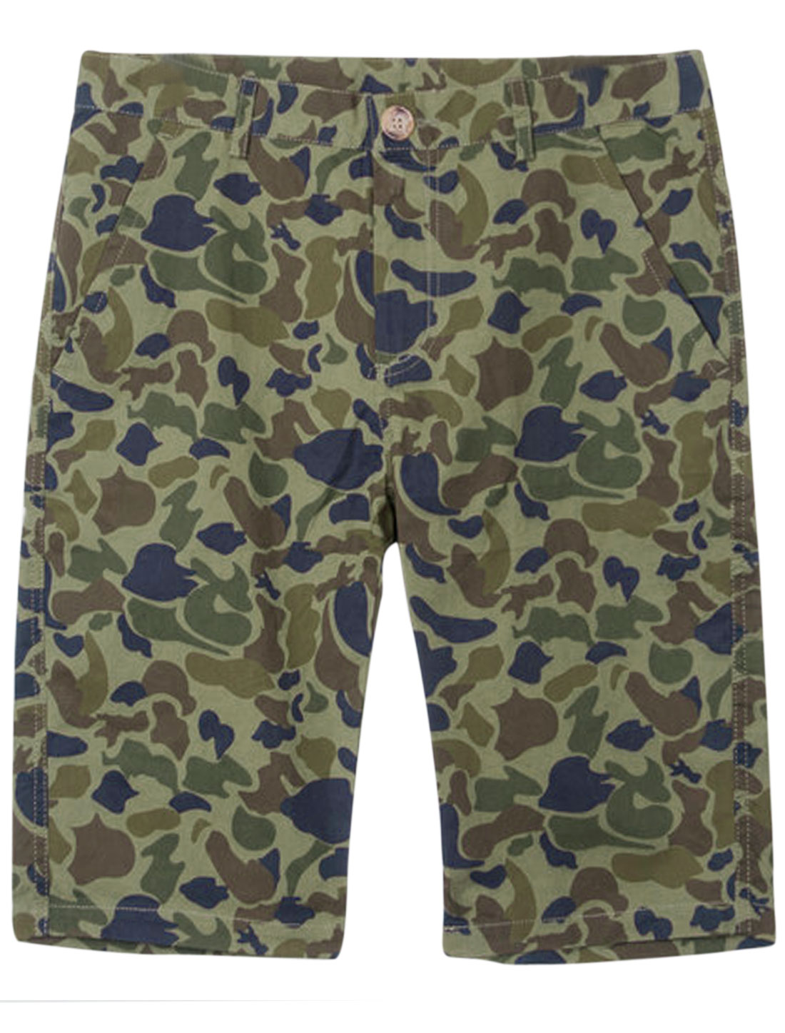Men Four Pockets Camouflage Pattern Chic NEW Shorts Brown Army Green W28