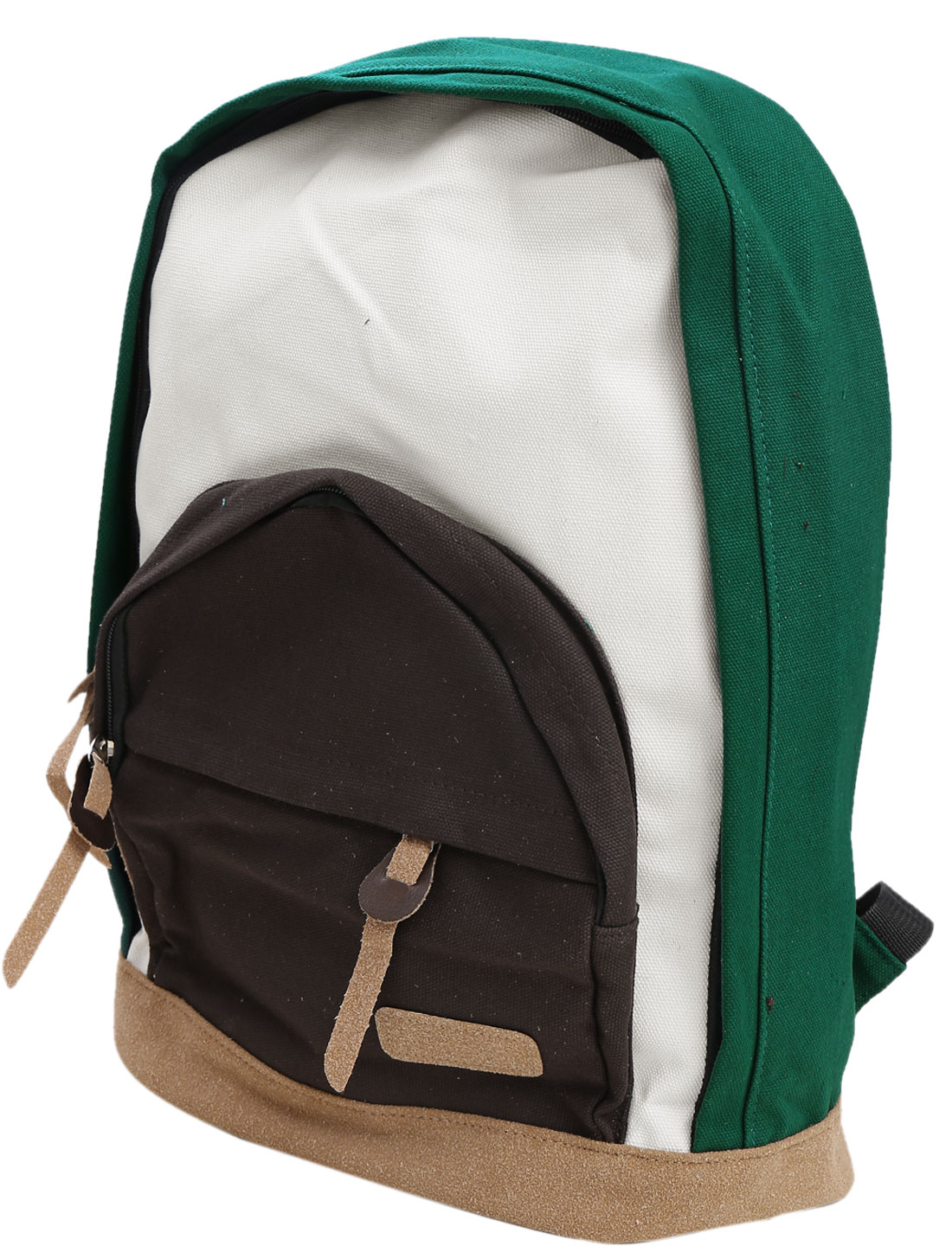 Men Fashion Zip-Up Closure One Compartments Colorblock Backpack Multicolor