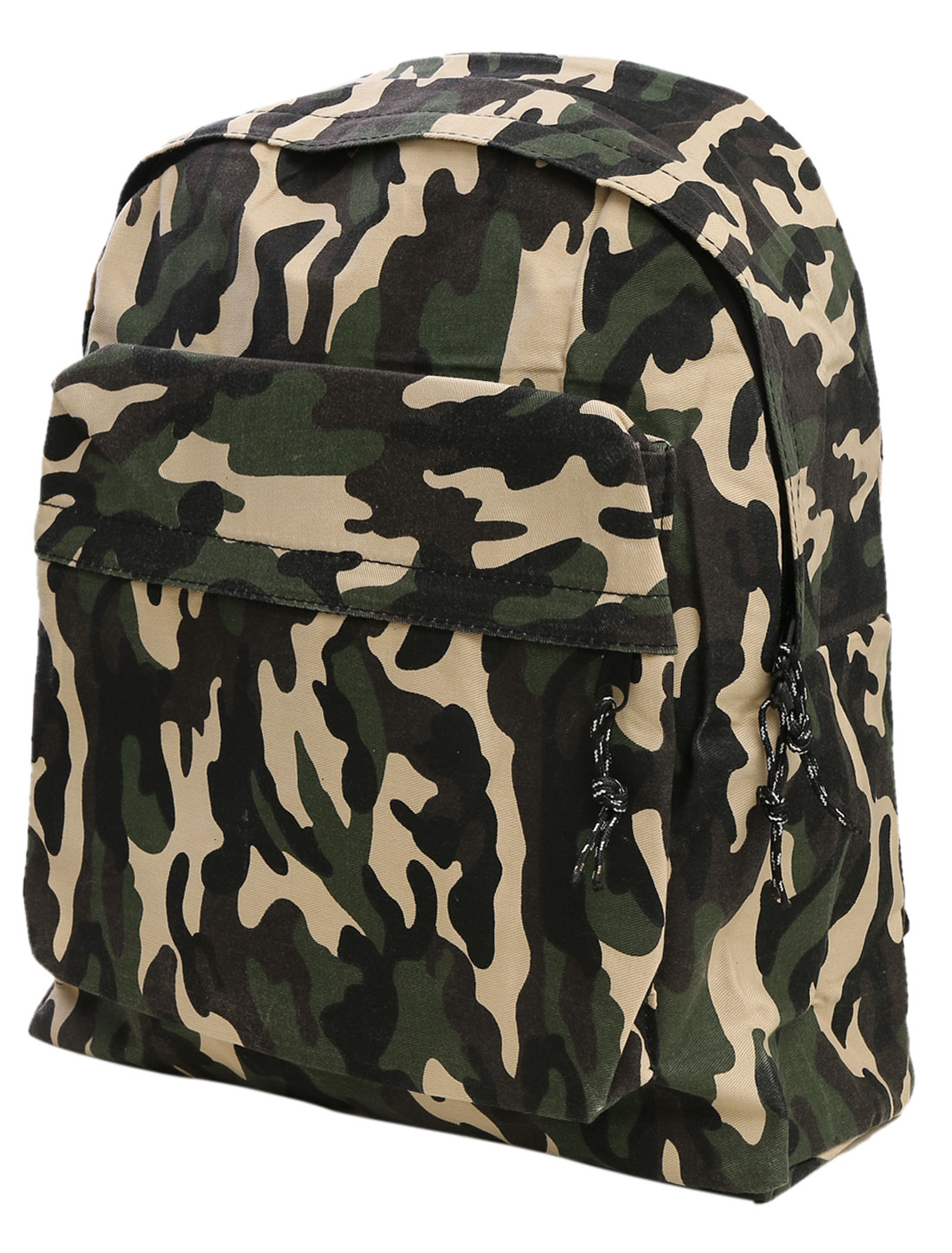 Men Trendy Double Compartments Camouflage Pattern Backpack Multicolor
