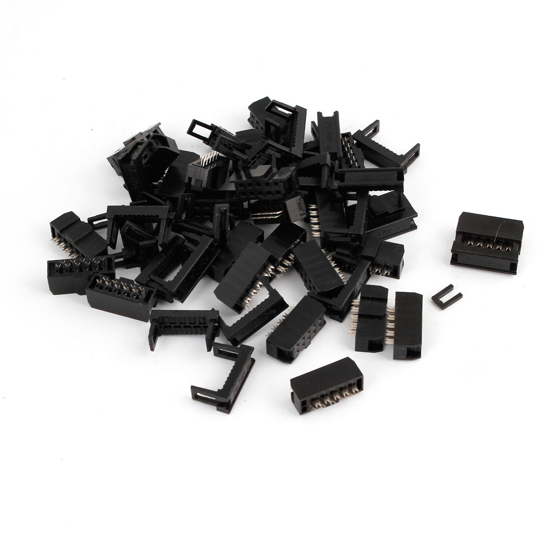 25 Pcs FC-10P 10Pin 2.54mm Pitch ISP JTAG Socket Connector for Flat Ribbon Cable