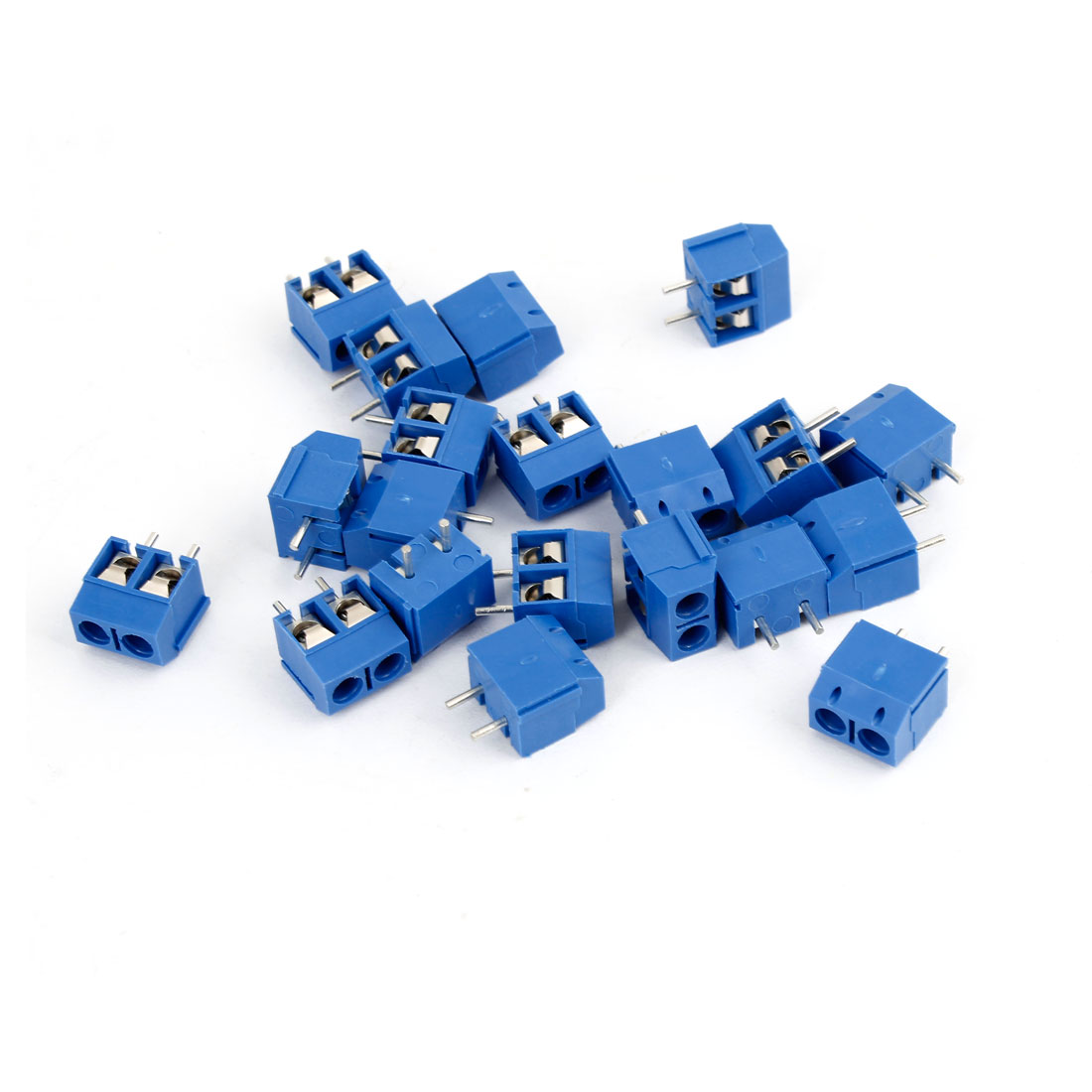 20 Pcs Blue KF301-2P 2 Position 5.0mm PCB Screw Terminal Block 250V 16A