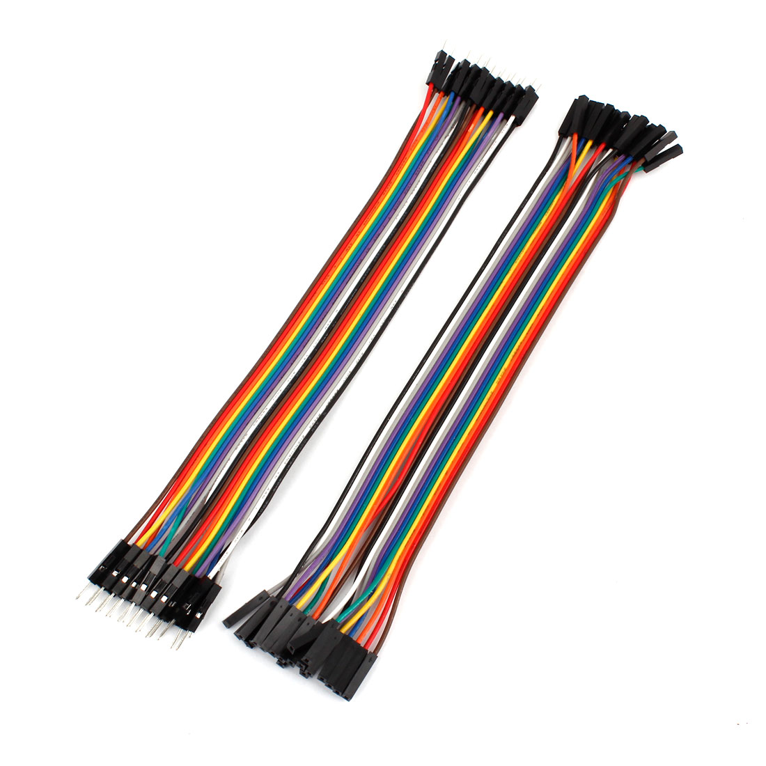 2Pcs 20cm 2.54mm Colorful M/M F/F 20Pin Cable Connector Jumper Wire Line