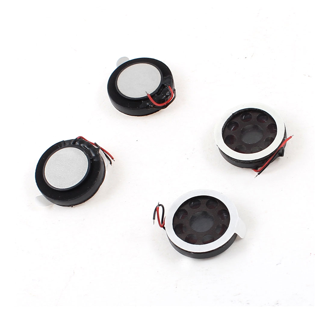 4 Pcs 1W 8 Ohm Wired 18mm Dia Round Magnet Speaker Amplifier Loudspeaker