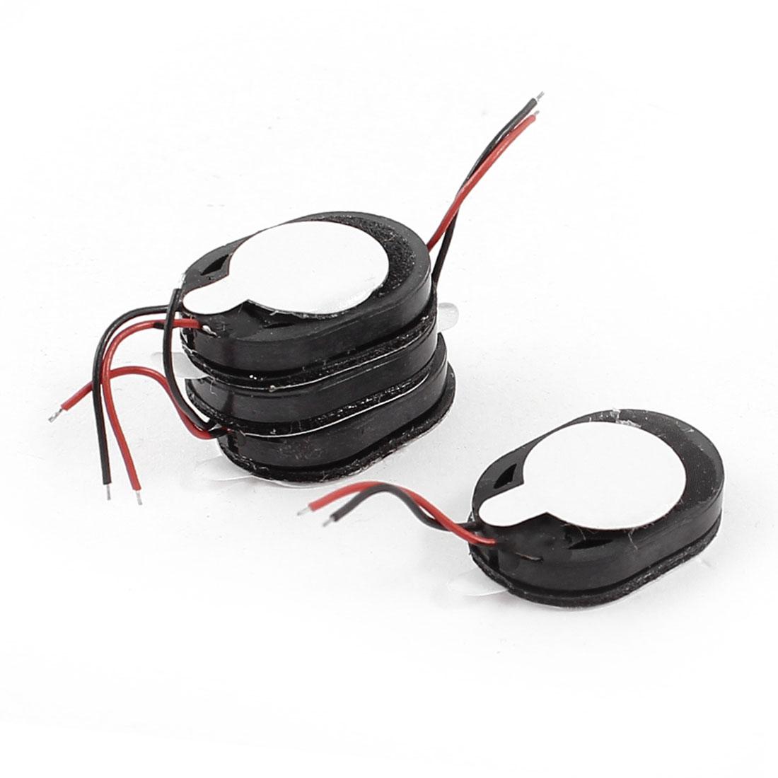 4Pcs 1Watt 8 Ohm 2-Wired Oval GPS Tablet Amplifier Speaker Loudspeaker 15mmx12mm