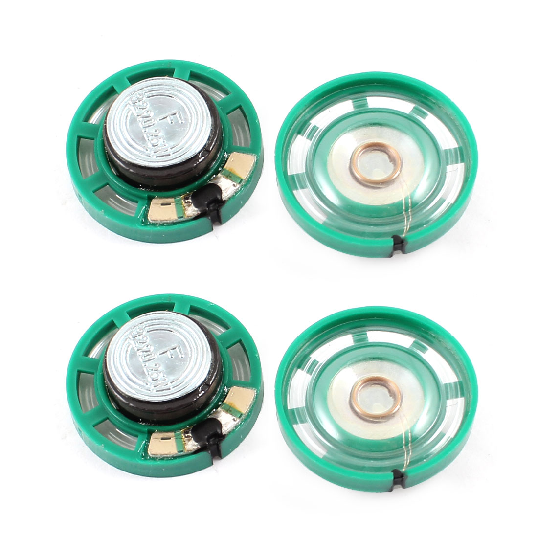 0.25W 32 Ohm Plastic Housing 27mm Dia Magnet Speaker Lautsprecher Loudspeaker 4Pcs