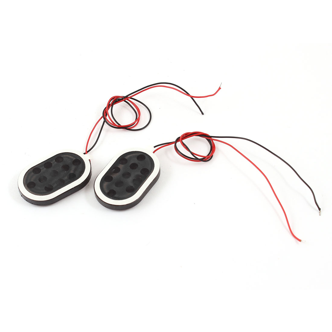 1.5W 8 Ohm Plastic Housing Oval Magnet GPS Speaker Loudspeaker 2Pcs