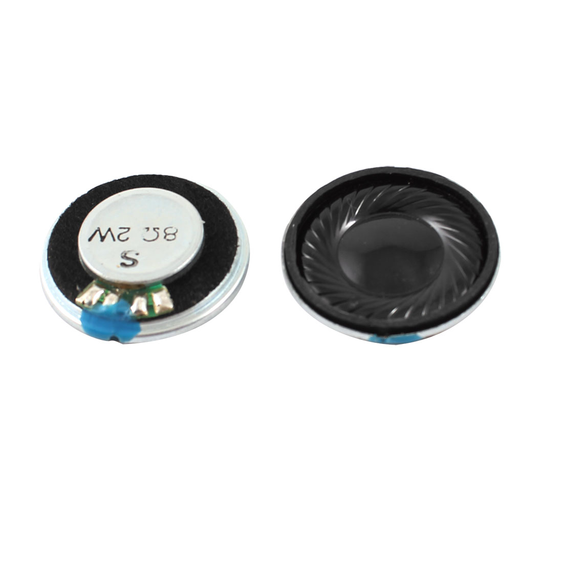 2W 8 Ohm Metal Housing Round Internal Magnet Speaker Loudspeaker 2Pcs