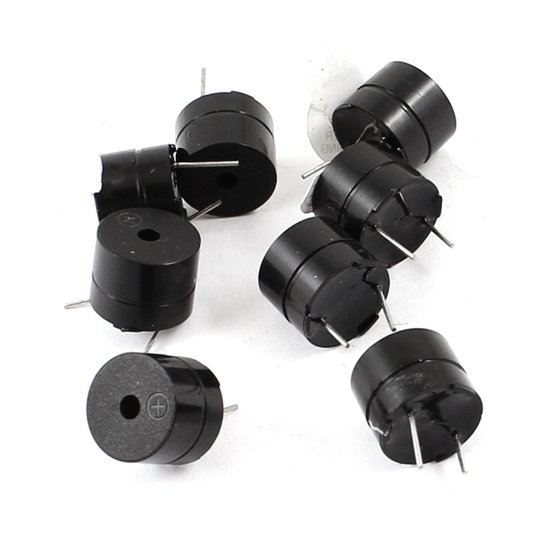 8pcs Industrial Electronic Continuous Sound Buzzer Black DC12V 12mmx9.5mm