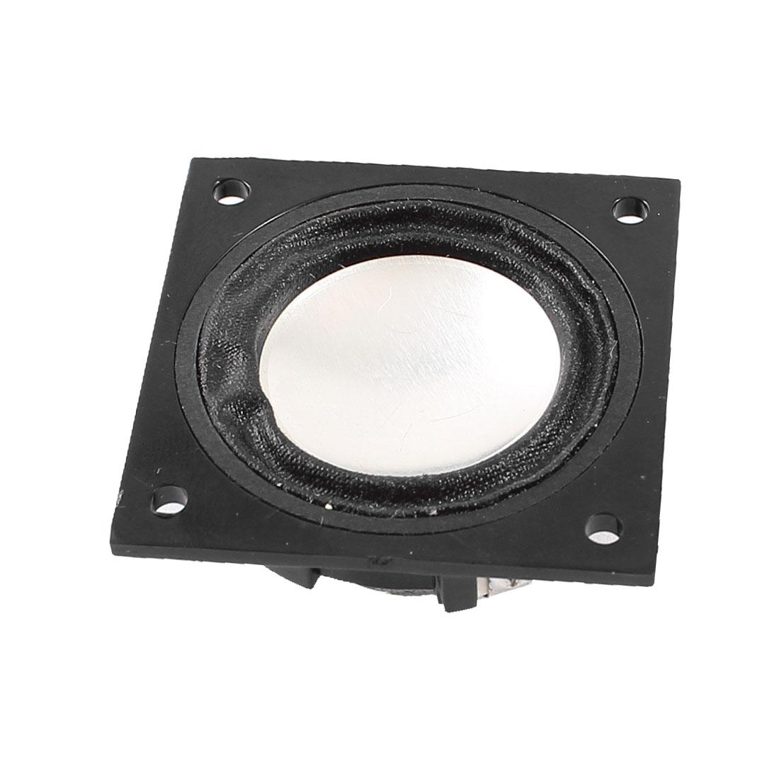 2W 8 Ohm 3.5cmx3.5cm Plastic Housing Round External Magnet Speaker Loudspeaker