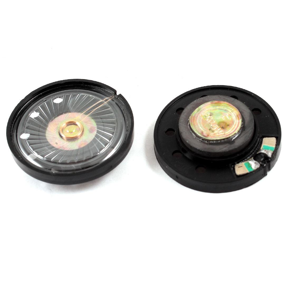0.25W 8 Ohm 36mm Dia Round External Magnet Speaker Loudspeaker 4Pcs