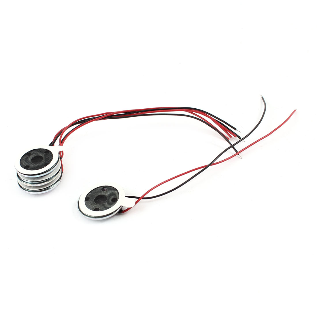 4 Pcs 0.5W 8 Ohm 15mm Dia Metal Housing Cellphone Magnet Speaker Loudspeaker
