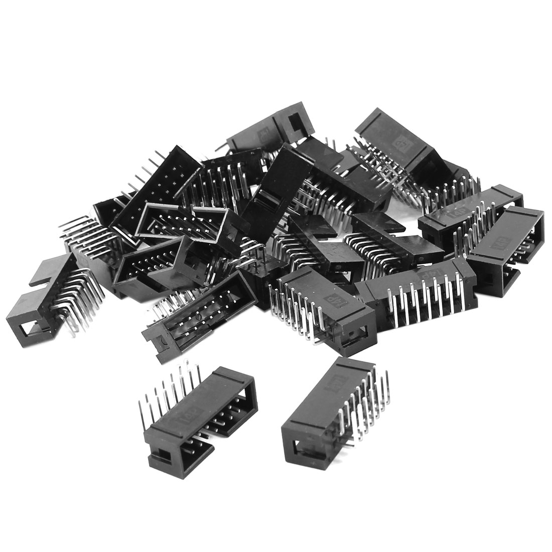 25Pcs DC3-14PL 2x7 Pins 2.54mm Pitch Right Angle Connector Pin IDC Box Headers