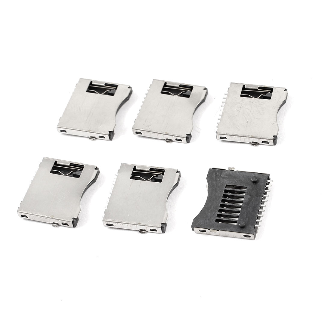 6 Pcs SMT SMD PCB Mount Cell Phone TF Micro SD Memory Card Slot Holder Sockets