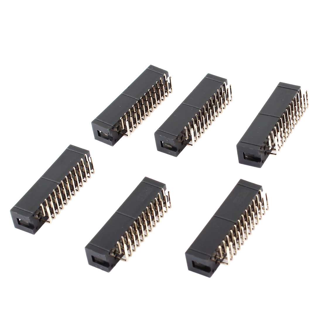 6Pcs DC3-24PL 2x12 Pins 24P 2.54mm Pitch Right Angle Connector Pin IDC Box Headers
