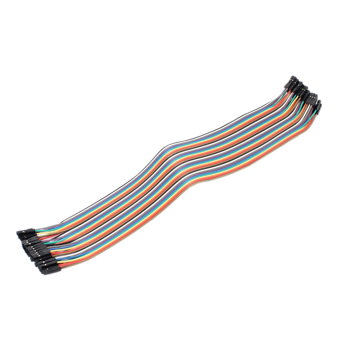 30cm Length Double Head 40pin 40P-40P F/F Connector Jumper Cable Wire Multicolor