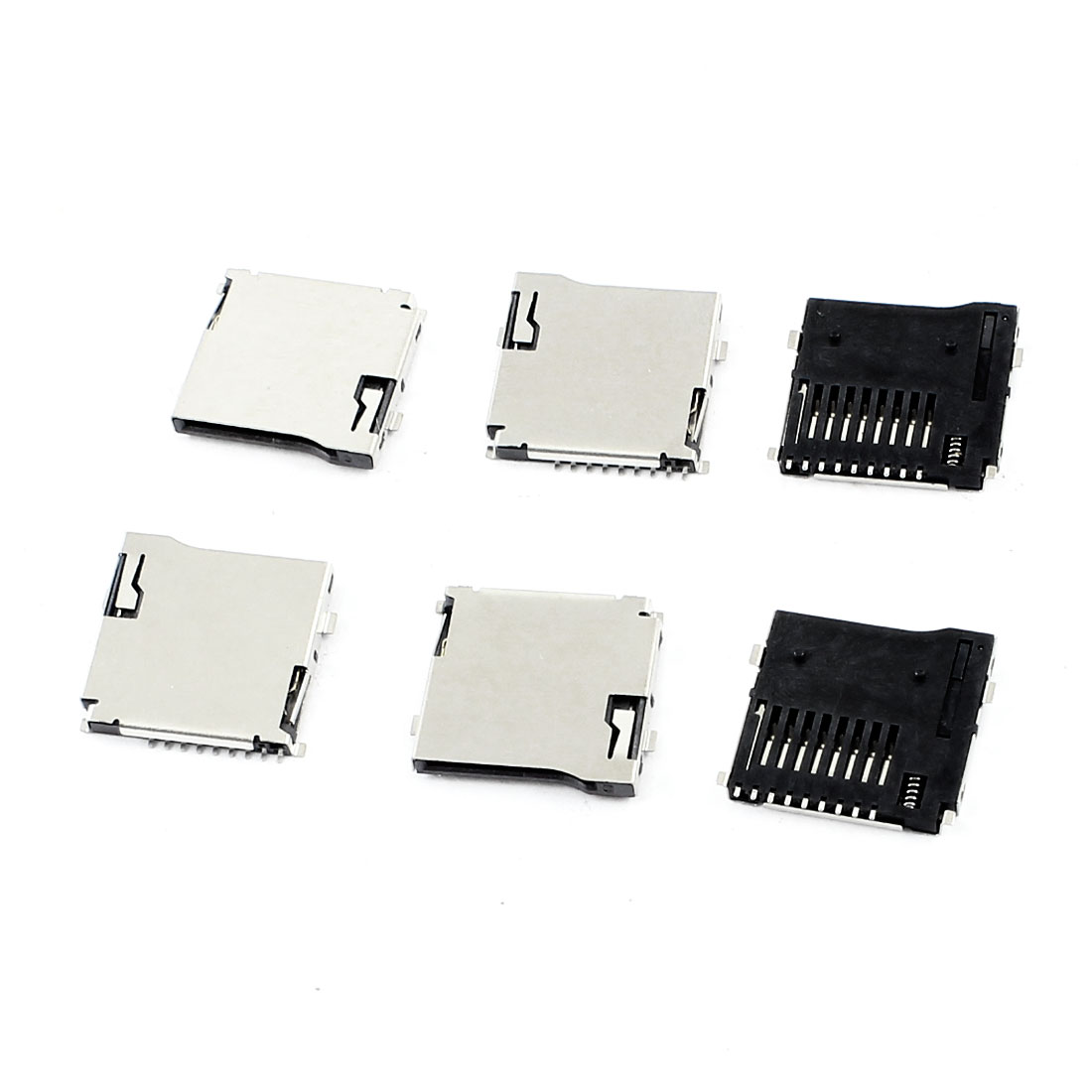 6 Pcs Smart Phone Spring Loaded Transflash Micro SD Card Sockets Slots