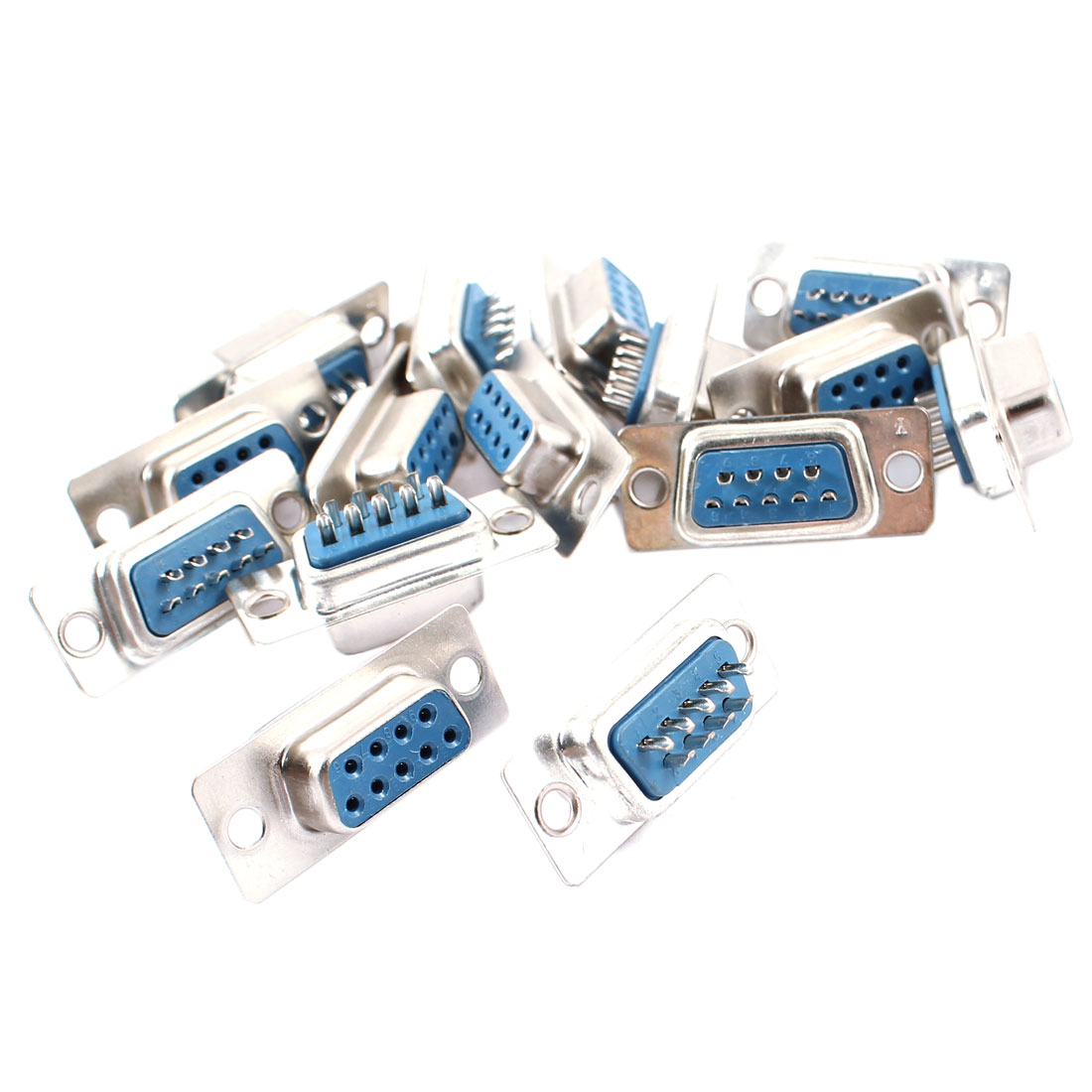 15 Pcs DB9 DB-9 RS232 Female 9-pin Connector VGA Socket Adapter Interface