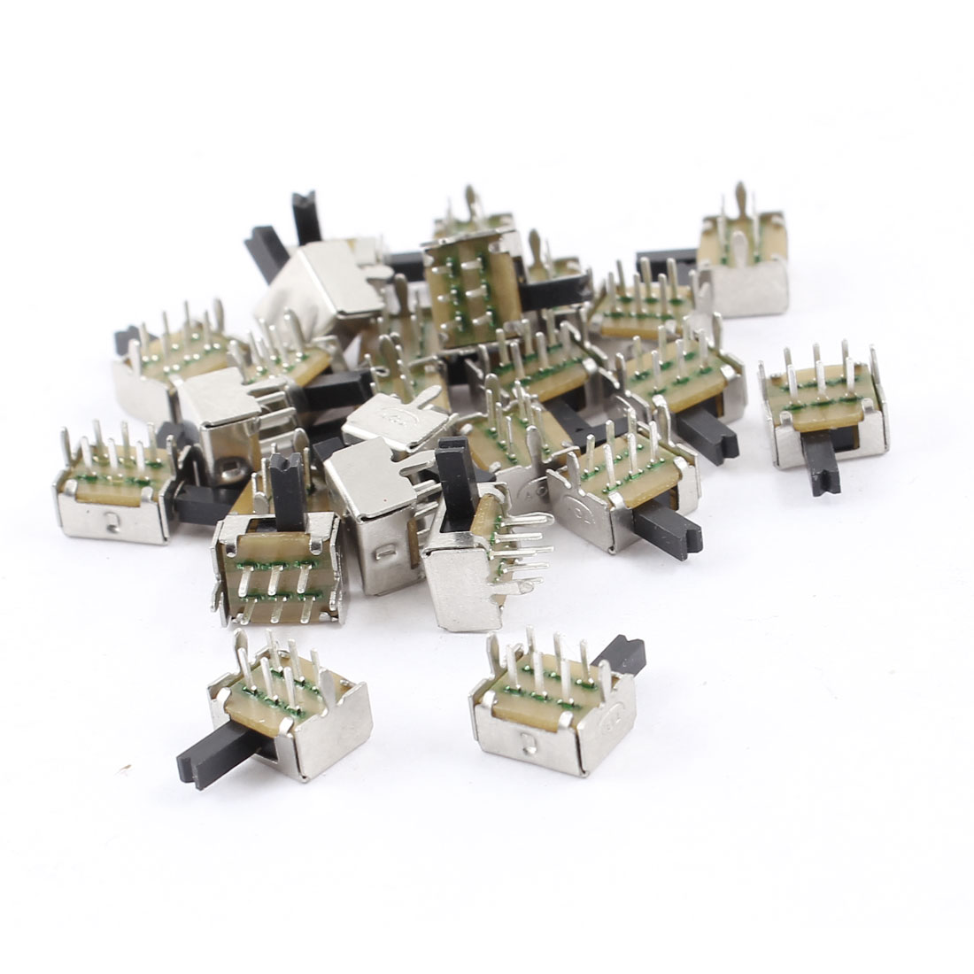 25 Pcs 6Pin PCB Mount 2 Position DPDT Miniature Mini Slide Switch
