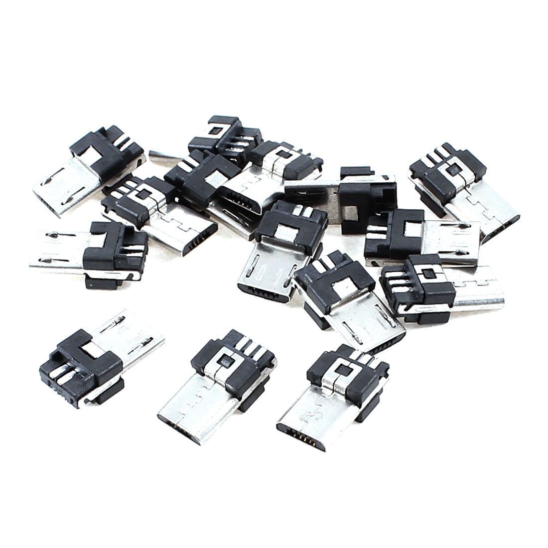 Office Micro USB B 5 Pin Type Male Jack Connector Solder Mount Adapter 15pcs