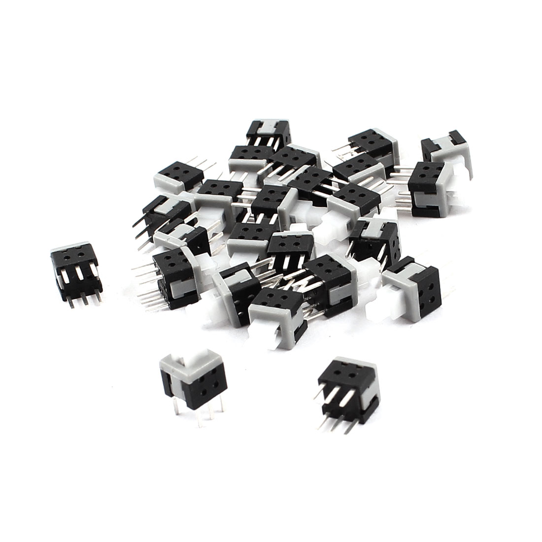 25Pcs 6 Pin Square 5.8mmx5.8mm Self-Locking DPDT Mini Push Button Switch