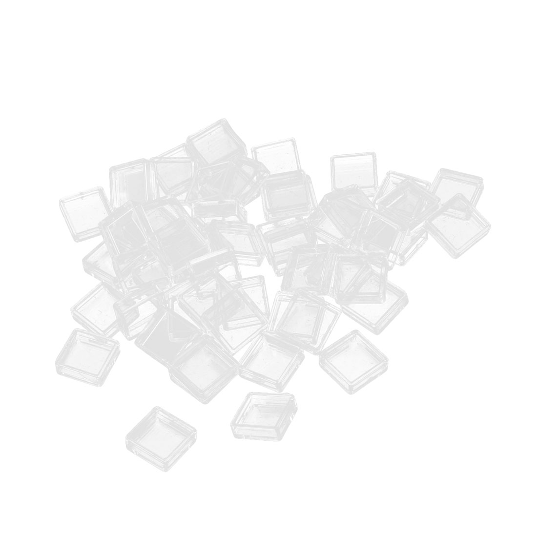 55pcs Clear Plastic Square Tactile PushButton Switch Tact Button Caps Keycaps Covers Protector