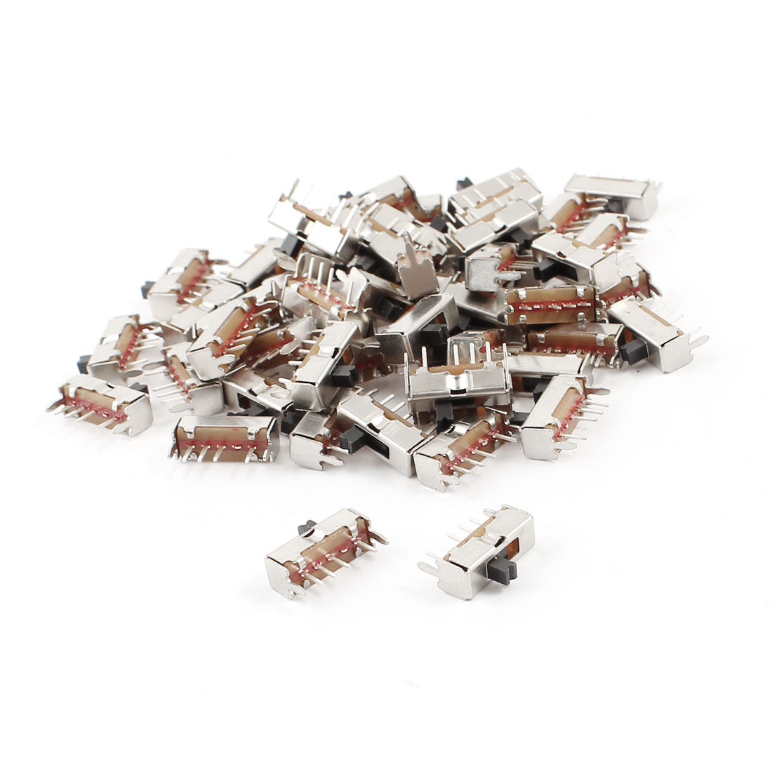 55 Pcs 4Pin PCB Mount 3 Position SP3T Horizontal Mini Slide Switch